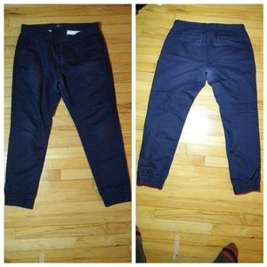 Old Navy Men's Blue Jogger with ruched ankle